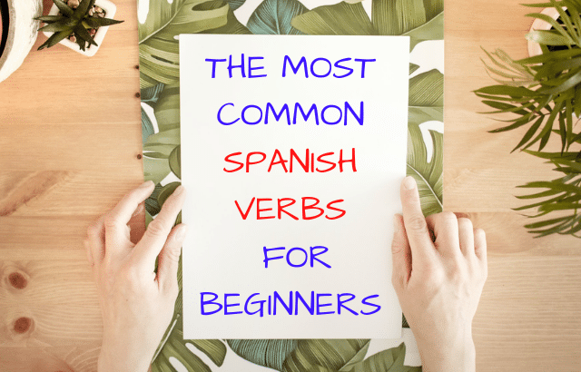 Most common Spanish verbs